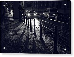 Acrylic Print featuring the photograph Night Street Of Prague by Jenny Rainbow