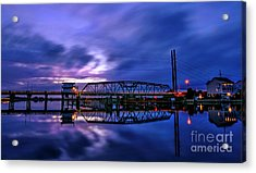 Night Swing Bridge Acrylic Print