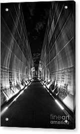 Night Time At Empty Sky Memorial Acrylic Print