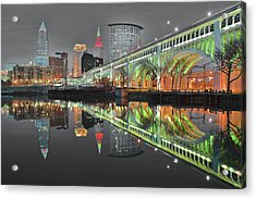 Acrylic Print featuring the photograph Night Time Glow by Frozen in Time Fine Art Photography
