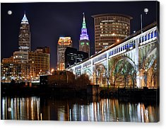 Night Time In The Big City Acrylic Print
