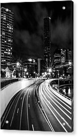 Night Time In The City  Acrylic Print