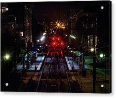 Night Tracks Acrylic Print