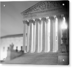 Night Us Supreme Court Washington Dc Acrylic Print by Panoramic Images