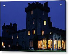 Night View Of Dromoland Castle Acrylic Print by Carl Purcell