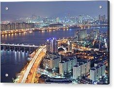 Night View Of Seoul Acrylic Print