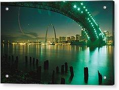 Night View Of St. Louis, Mo Acrylic Print