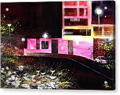 Acrylic Print featuring the painting Night Walk by Anil Nene