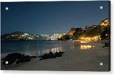 Night Walk On La Ropa Acrylic Print by Jim Walls PhotoArtist