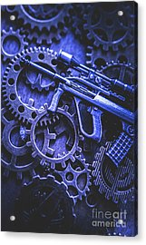 Night Watch Gears Acrylic Print by Jorgo Photography - Wall Art Gallery