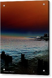 Night Winds And Waves Acrylic Print