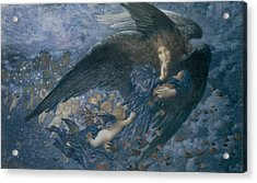 Night With Her Train Of Stars Acrylic Print by Edward Robert Hughes