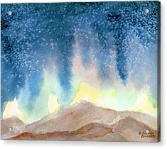 Acrylic Print featuring the painting Nightfall by Andrew Gillette
