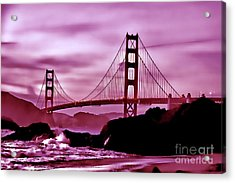 Nightfall At The Golden Gate Acrylic Print