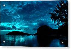 Nightfall In Mauritius Acrylic Print
