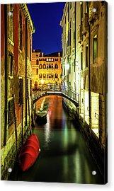 Nightfall In Venice Acrylic Print by Andrew Soundarajan