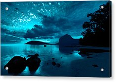 Nightfall Near Le Morne Acrylic Print