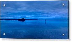 Acrylic Print featuring the photograph Nightfall Over Lake Ballard by Julian Cook