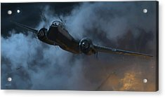 Nightfighter - Painterly Acrylic Print by Robert Perry