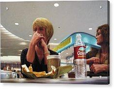 Nighthawks At The Foodcourt Acrylic Print by James W Johnson