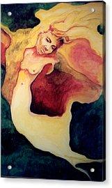 Nightingale Acrylic Print by Erika Brown