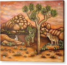 Nightlife In Joshua Tree Acrylic Print by Kathy Shute
