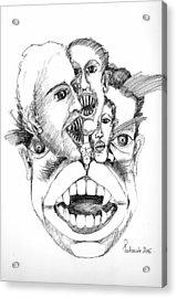 Nightmares Acrylic Print by Padamvir Singh