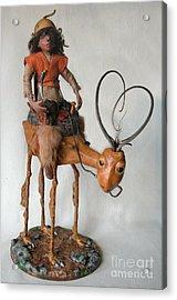Nightrider Acrylic Print by Linda Apple