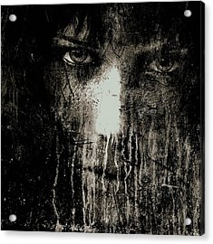 Nights Eyes Black And White Acrylic Print by Marian Voicu