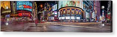 Acrylic Print featuring the photograph Nights On Broadway by Az Jackson