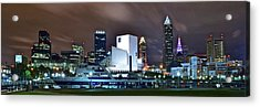 Nighttime At The Lakefront Acrylic Print by Frozen in Time Fine Art Photography