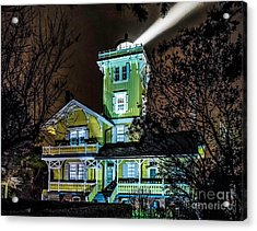 Acrylic Print featuring the photograph Nighttime Fog At Hereford Inlet by Nick Zelinsky