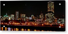 Nighttime In Pdx Acrylic Print