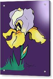 Nighttime Iris Acrylic Print