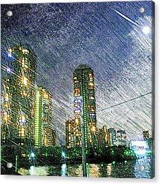 Tokyo River Acrylic Print by Daisuke Kondo