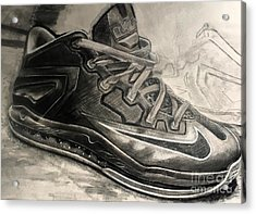 Nike Lebron 10 Low Volt Olive Acrylic Print by Gary Reising