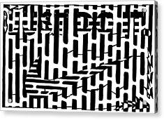 Nike Maze Acrylic Print by Yonatan Frimer Maze Artist