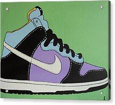 Nike Shoe Acrylic Print by Grant  Swinney