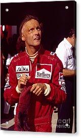 Niki Lauda. Marlboro Mclaren International Acrylic Print