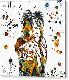Nikki Sixx Paint Splatter Acrylic Print