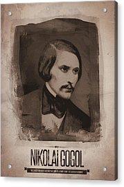 Nikolai Gogol Acrylic Print by Afterdarkness