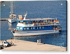 Nikos Express Ferry At Halki Acrylic Print