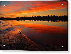 Nile Sunset Acrylic Print