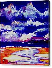 Nimbus Clouds Over Mumbles Acrylic Print by Rusty Gladdish