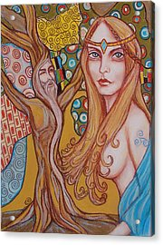 Nimue And Merlin Acrylic Print by Tammy Mae Moon
