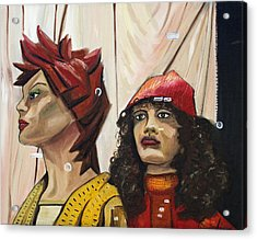 Acrylic Print featuring the painting Nina And Star by Patricia Arroyo