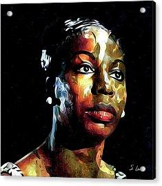 Nina Simone American Singer Acrylic Print