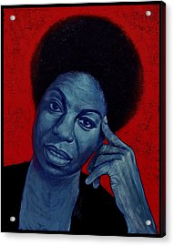 Nina Simone Acrylic Print by Jovana Kolic
