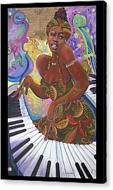 Nina Simone Acrylic Print by Lee Ransaw