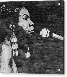 Nina Simone Acrylic Print by Rachel Natalie Rawlins